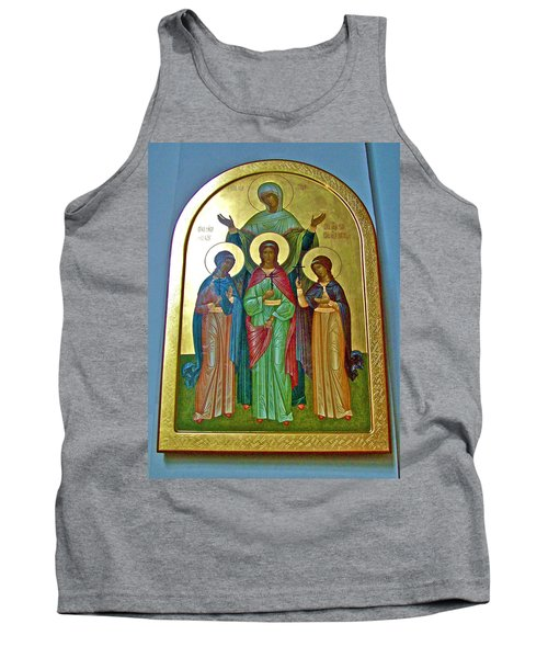 Icon Inside Chesme Church Built By Catherine The Great In Saint  Petersburg-russia Tank Top
