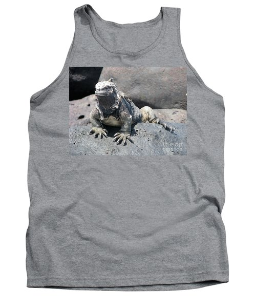 Iguana Or Prehistory Survivor Tank Top