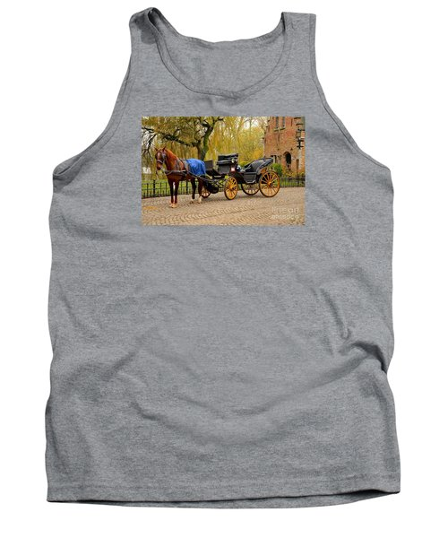 Immaculate Horse And Carriage Bruges Belgium Tank Top