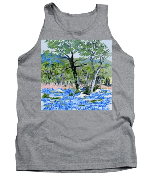 In April-texas Bluebonnets Tank Top