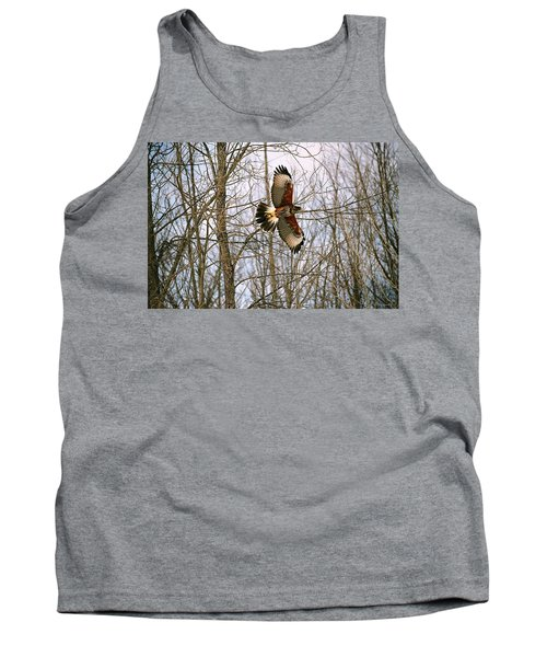 Tank Top featuring the photograph In Flight by David Porteus