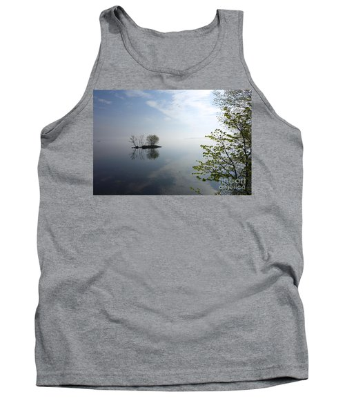 In The Distance On Mille Lacs Lake In Garrison Minnesota Tank Top