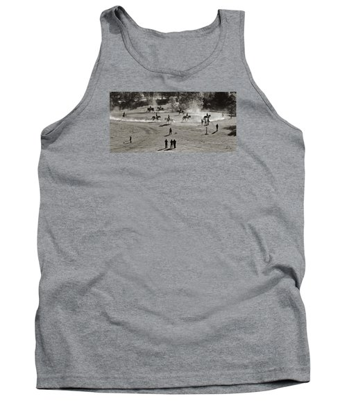 Tank Top featuring the photograph In The Warm Up by Joan Davis