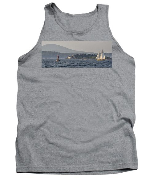 Tank Top featuring the photograph Indian Island Lighthouse - Rockport - Maine by Marty Saccone