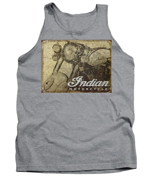 Indian Motorcycle Poster Tank Top