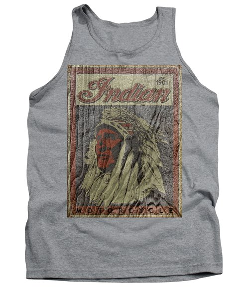 Indian Motorcycle Postertextured Tank Top