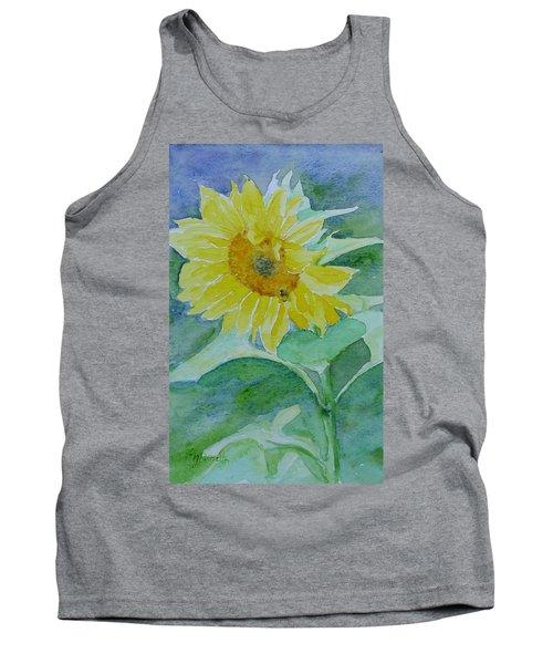 Inviting Sunflower Small Sunflower Art Tank Top by Elizabeth Sawyer
