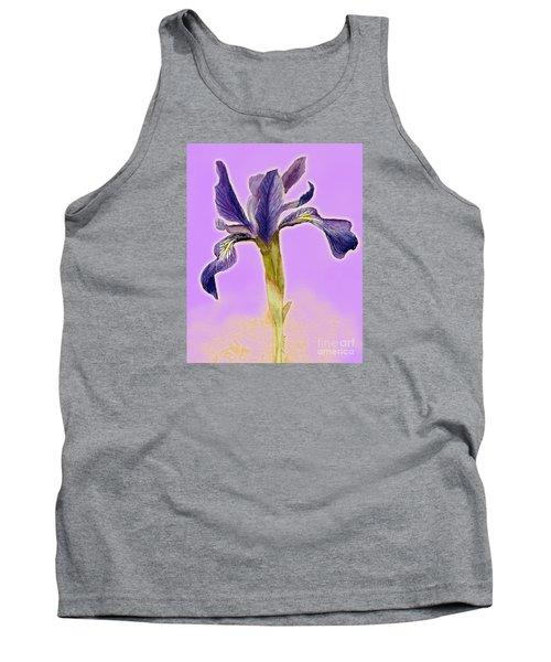 Iris On Lilac Tank Top by Barbie Corbett-Newmin
