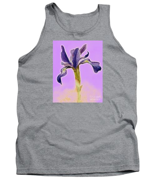 Iris On Lilac Tank Top