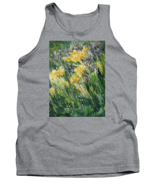 Tank Top featuring the painting Irises by Jane See