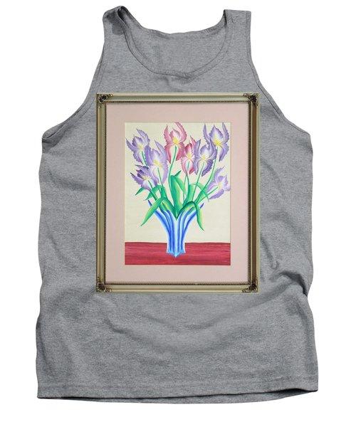 Irises Tank Top by Ron Davidson