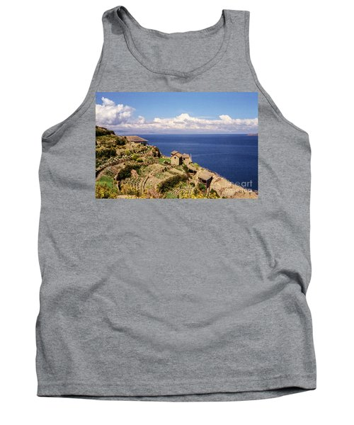 Tank Top featuring the photograph Isla Del Sol by Suzanne Luft