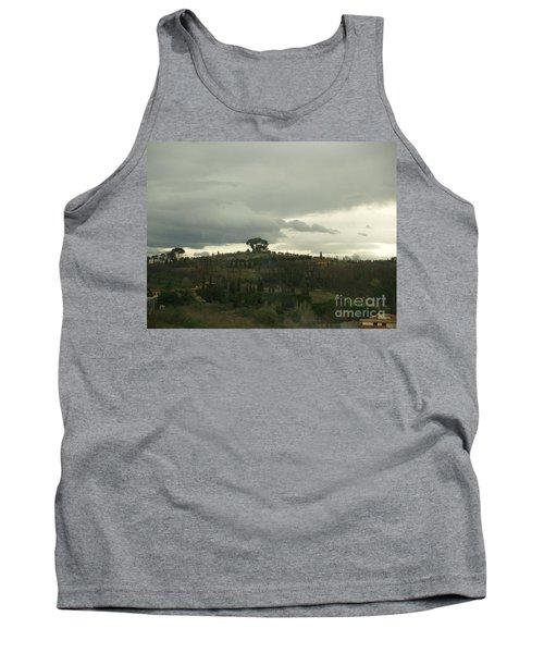 Tank Top featuring the photograph Italian Hillside by Robin Maria Pedrero