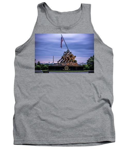 Iwo Jima Monument Tank Top by David Morefield