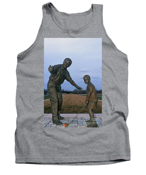 36u-245 Jack Nicklaus Sculpture Photo Tank Top
