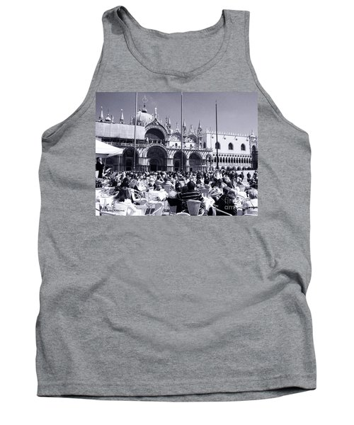 Jazz In Piazza San Marco Black And White  Tank Top