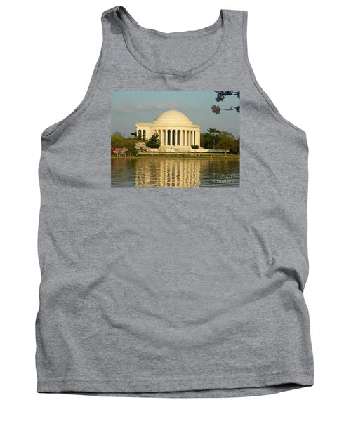 Tank Top featuring the photograph Jefferson Memorial At Sunset by Emmy Marie Vickers
