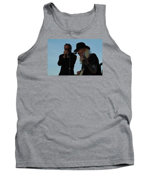 Tank Top featuring the photograph Johnny Winter And James Montgomery Playing The Blues by Mike Martin