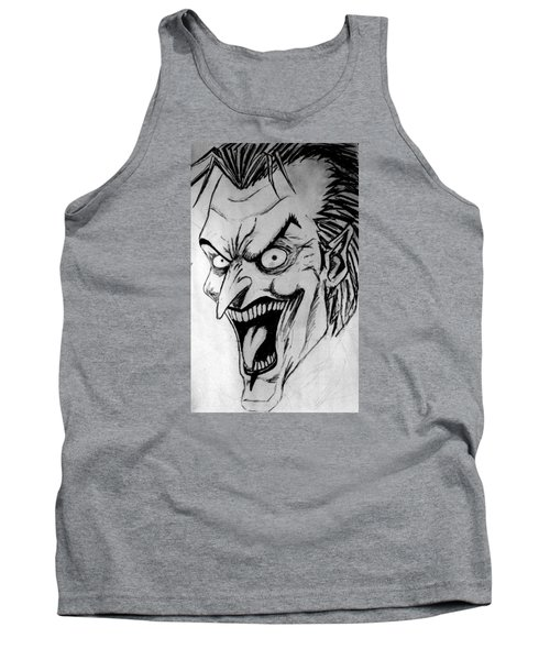 Tank Top featuring the painting Joker by Salman Ravish