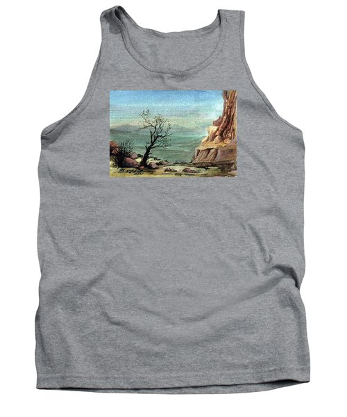 Tank Top featuring the painting Jordanian Valley by Mikhail Savchenko
