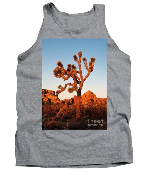 Tank Top featuring the photograph Joshua Tree At Sunset by Mae Wertz