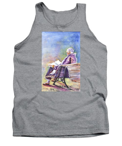 Tank Top featuring the painting Just Passing The Time Away by Carol Wisniewski