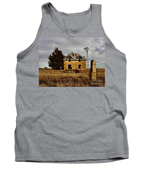 Tank Top featuring the photograph Kansas Castle 1 by Lynne Wright