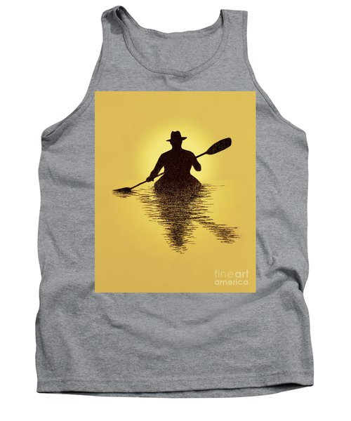 Kayaker Sunset Tank Top by Garry McMichael