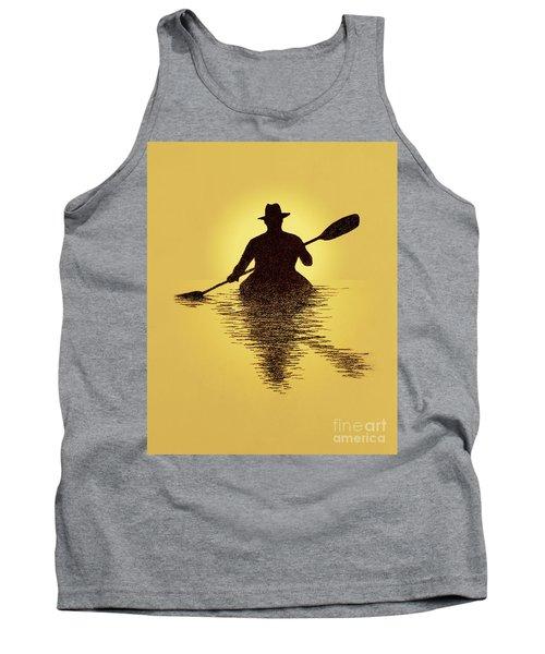 Kayaker Sunset Tank Top
