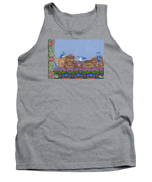 Tank Top featuring the painting Keeper Of Songs by Chholing Taha
