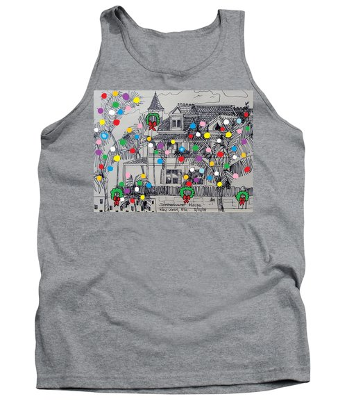 Key West Christmas Tank Top by Diane Pape