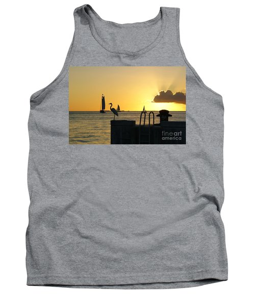 Tank Top featuring the photograph Key West Sunset by Olga Hamilton