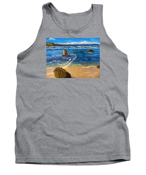 Tank Top featuring the painting Kiama Beach by Pamela  Meredith