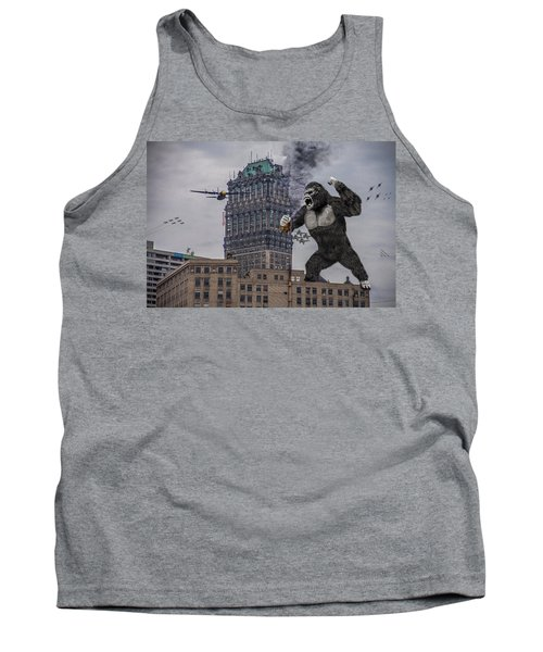 Tank Top featuring the photograph King Kong In Detroit At Wurlitzer by Nicholas  Grunas