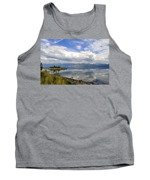 Tank Top featuring the photograph Kluane Reflections by Cathy Mahnke
