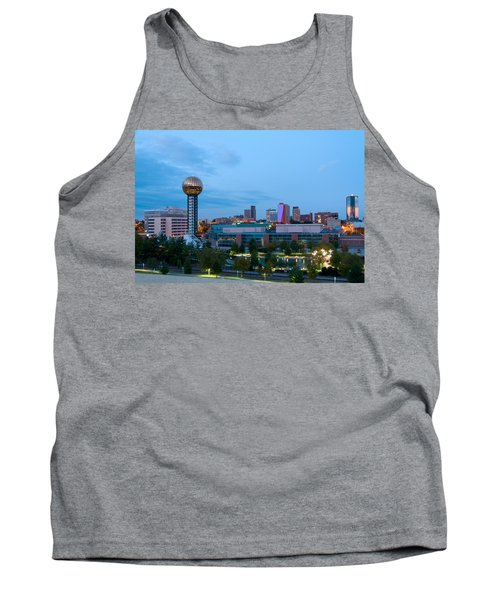 Knoxville At Dusk Tank Top by Melinda Fawver
