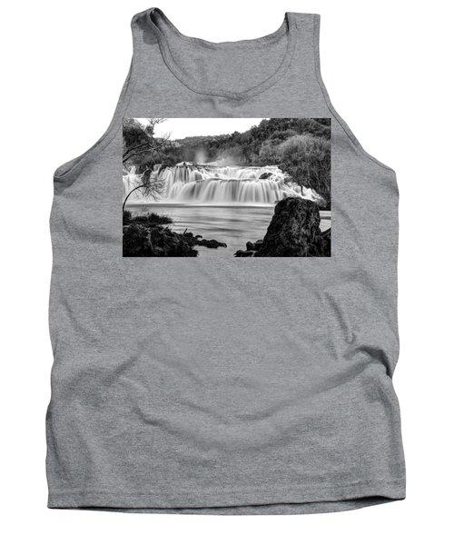 Krka Waterfalls Bw Tank Top
