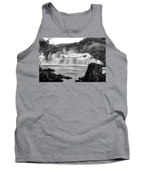 Krka Waterfalls Bw Tank Top