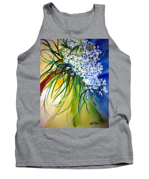 Tank Top featuring the painting Lace by Lil Taylor