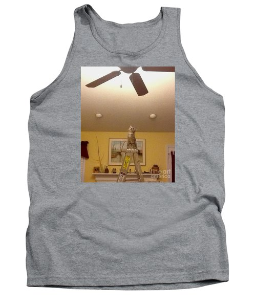 Ladder Cat Tank Top by Stacy C Bottoms