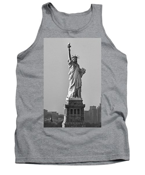 Lady Liberty Black And White Tank Top by Kristin Elmquist