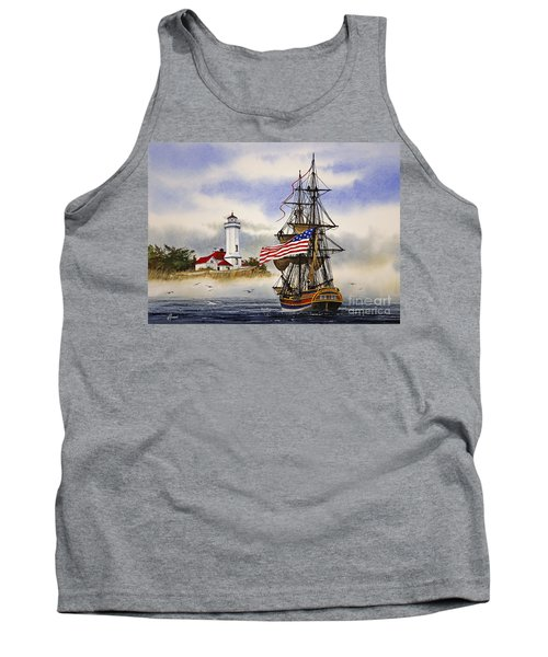 Lady Washington At Point Wilson Lighthouse Tank Top