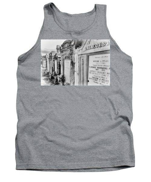 Lafayette Cemetery Black And White Tank Top