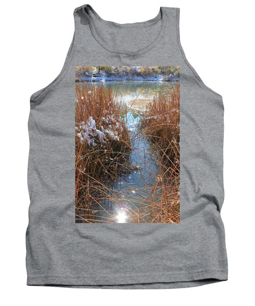 Tank Top featuring the photograph Lake Glitter by Diane Alexander