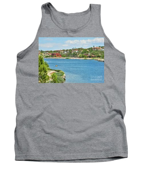 Tank Top featuring the photograph Lake Las Vegas In May by Emmy Marie Vickers