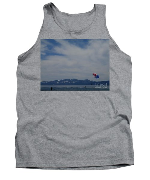 Tank Top featuring the photograph Parasail Landing by Bobbee Rickard
