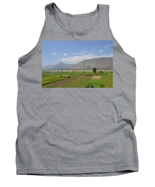Tank Top featuring the photograph Landscape Of Mountains Sky And Fields Swat Valley Pakistan by Imran Ahmed