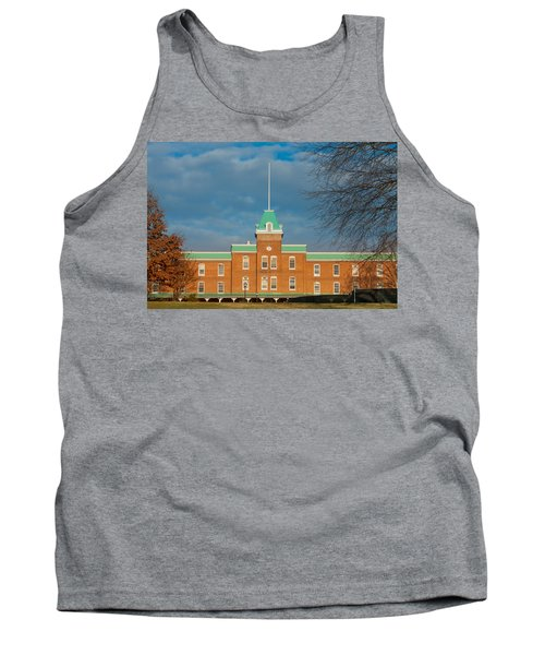 Lane Hall At Virginia Tech Tank Top by Melinda Fawver