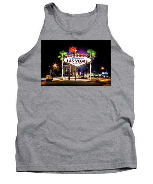 Las Vegas Sign Tank Top by Az Jackson