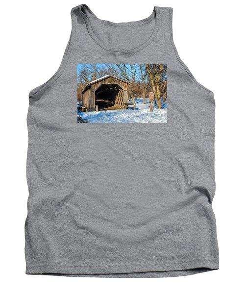 Last Covered Bridge Tank Top by Susan  McMenamin